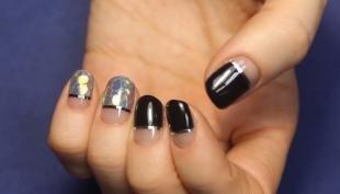Аквариумный дизайн ногтей, оригинальный новогодний маникюр