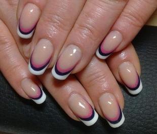 Черно-белый дизайн ногтей, свадебный фан-френч