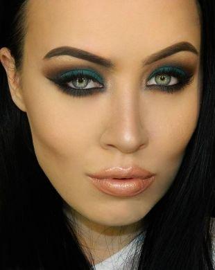 Макияж для брюнеток с серыми глазами, бирюзовый макияж для серых глаз