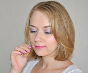 Свадебный макияж с фиолетовыми тенями, весенний макияж в розово-сиреневых тонах
