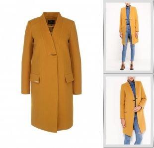 Горчичные пальто, пальто grand style, осень-зима 2015/2016