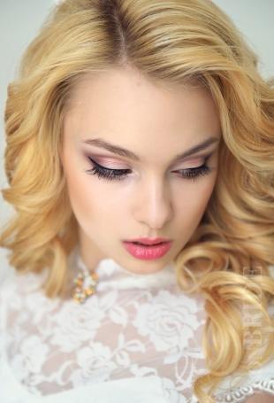 Свадебный макияж в персиковых тонах, идеальный свадебный макияж