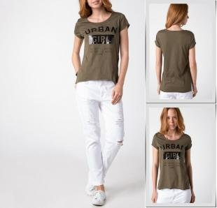 Хаки футболки, футболка defacto,