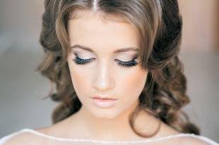 Свадебный макияж в серых тонах, великолепный свадебный макияж