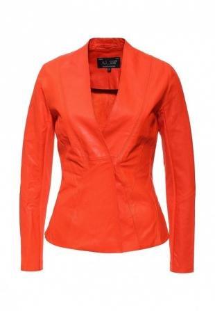 Оранжевые куртки, куртка кожаная armani jeans, весна-лето 2016