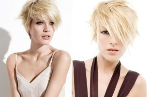 Цвет волос холодный блонд на короткие волосы, короткие ступенчатые стрижки для женщин после 40 лет