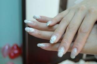 Рисунки на свадьбу на ногтях, свадебный маникюр с белыми розами