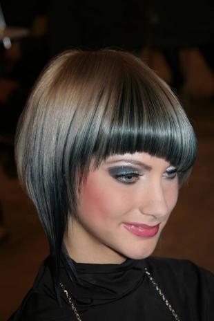 Пепельный цвет волос, контрастное окрашивание волос