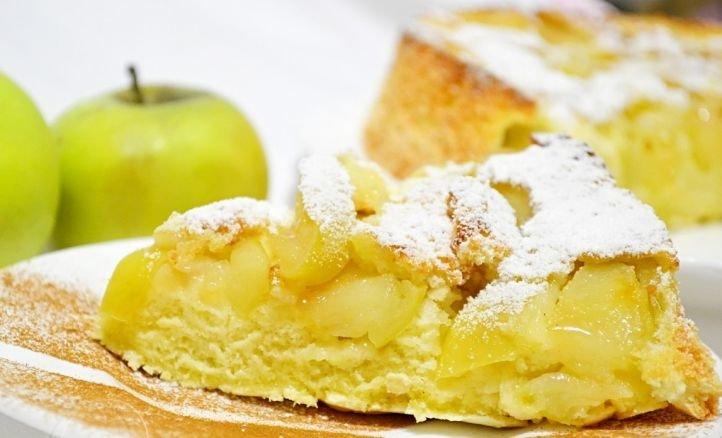 Правильное питание - шарлотка с яблоками