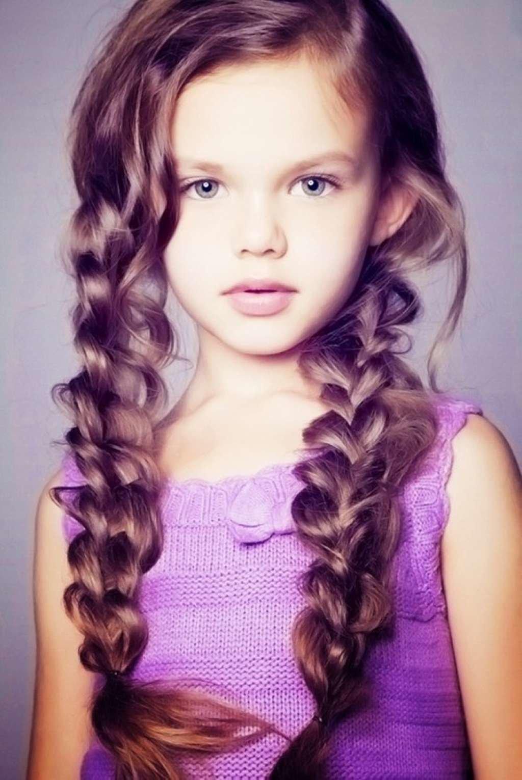 Фото прическа для девочки с длинными волосами