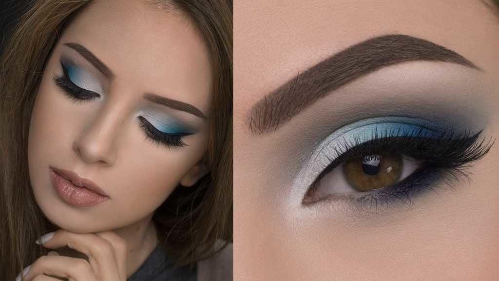 синих в тонах пошаговое вечерний фото макияж