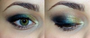 Макияж для зеленых глаз под зеленое платье, красивый вечерний макияж для зеленых глаз