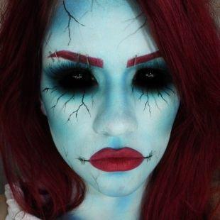 Макияж для голубых глаз на хэллоуин, жуткий макияж на хэллоуин