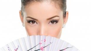 Корейский макияж, макияж для узких карих глаз