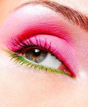 Гламурный макияж, яркий летний макияж для серых глаз