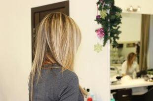 Цвет волос блонд, американское мелирование на светлые волосы