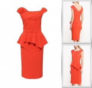 Оранжевые платья, платье rinascimento, весна-лето 2016