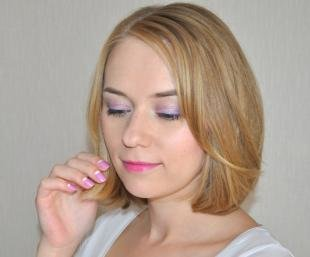Макияж на каждый день для серых глаз, весенний макияж в розово-сиреневых тонах