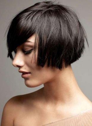 Цвет волос горький шоколад на короткие волосы, стрижка боб для ровных волос