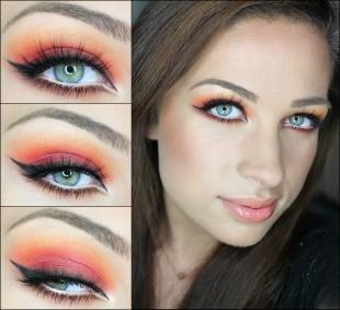 Клубный макияж, яркий макияж глаз