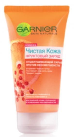 Скраб против черных точек Гарньер, гарньер чистая кожа скраб фруктовый заряд 150мл