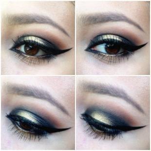 Темный макияж для брюнеток, вечерний макияж для карих глаз