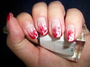 Рисунки белым лаком на ногтях, простой маникюр в домашних условиях
