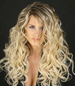 Цвет волос холодный блонд, мелирование омбре на темно-русые волосы