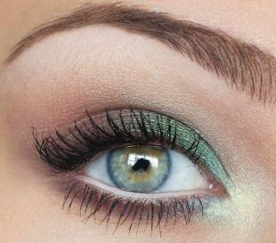 Летний макияж для зеленых глаз, дневной макияж зеленых глаз