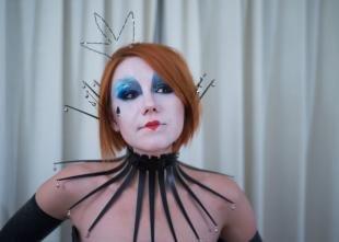 Макияж на Хэллоуин, макияж пиковой дамы на хэллоуин