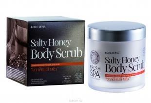"""Скраб из меда и соли, fresh spa скраб для тела bania detox """"соленый мед"""", 400 мл"""