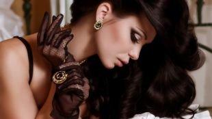 Яркий макияж для брюнеток, насыщенный вечерний макияж для карих глаз