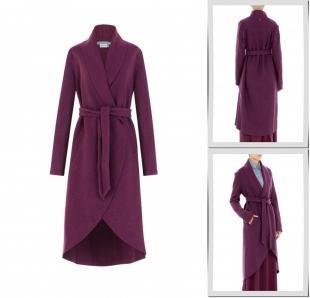 Бордовые пальто, пальто bella kareema,