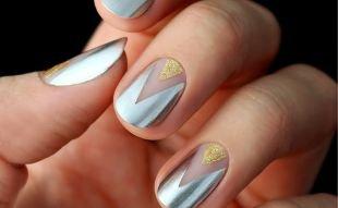 Маникюр с помощью скотча, стильный маникюр на короткие ногти