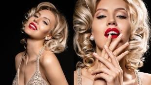 Макияж для блондинок с красной помадой, макияж в стиле мэрилин монро
