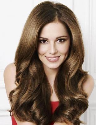 Средне русый цвет волос на длинные волосы, ореховый цвет волос