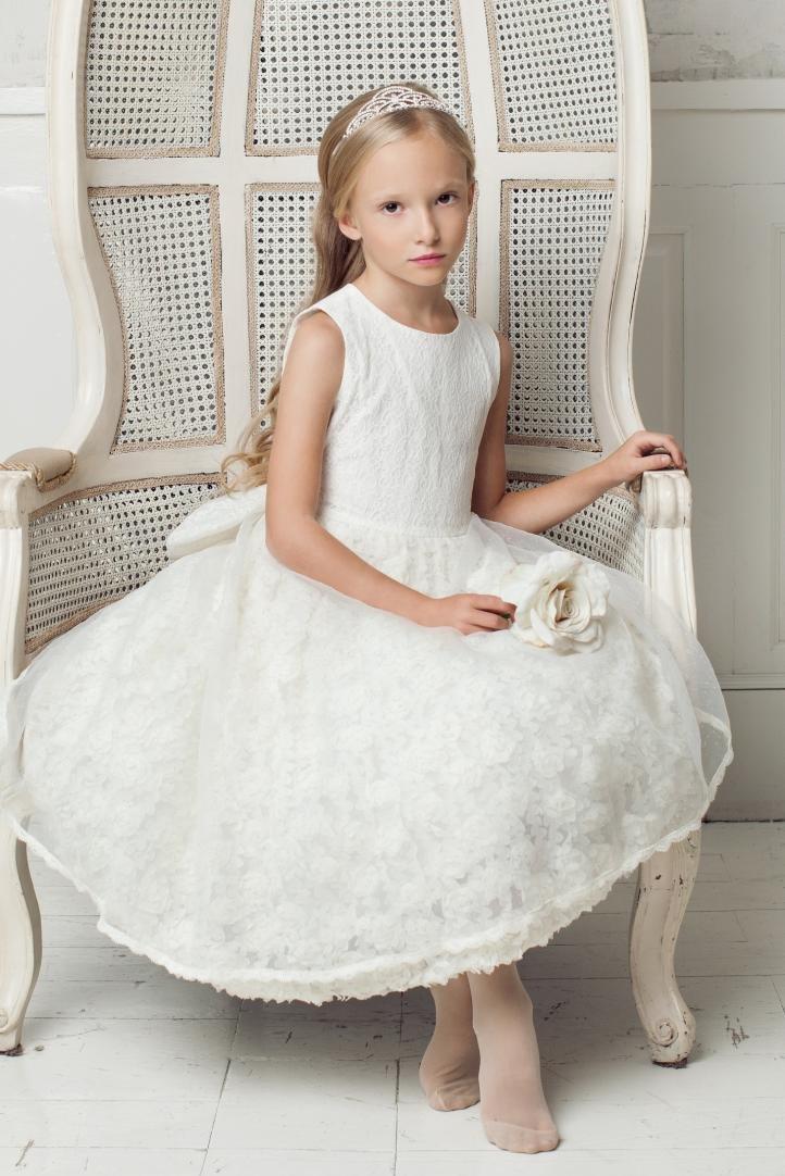 Белое платье на выпускной в детский сад
