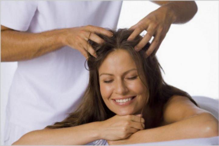 СПА/SPA процедуры для волос - успокаивающий массаж головы
